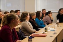 Students and faculty of Lehigh University attend the Cognitive Science Senior Thesis Presentations