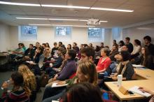 Students and faculty of Lehigh University attend Dr. Jessecae Marsh's presentation on Beliefs about the Experience of Art