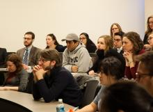 Students and faculty of Lehigh University listen to John Kounios's presentation on The Cognitive Neuroscience of Insight